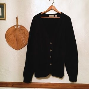 Vintage- oversized black cardigan